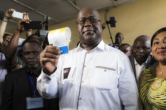 Opposition candidate Felix Tshisekedi was declared the winner of the Democratic Republic of Congo's presidential election Wednesday. Photo by Stefan Kleinowitz/EPA