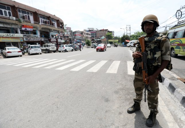 The Indian Kashmir region has been under heavy lockdown since Aug. 5 when its special autonomous status was revoked and security is on the high alert ahead of Independence Day celebrations across the country. Photo by Jaipal Singh/EPA-EFE