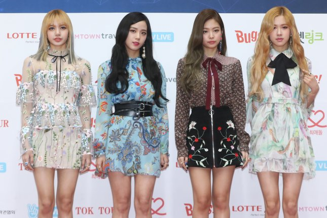 Black Pink played a game on Late Late Show with James Corden before taking to the stage with Kill This Love. File Photo by Yonhap News Agency/EPA