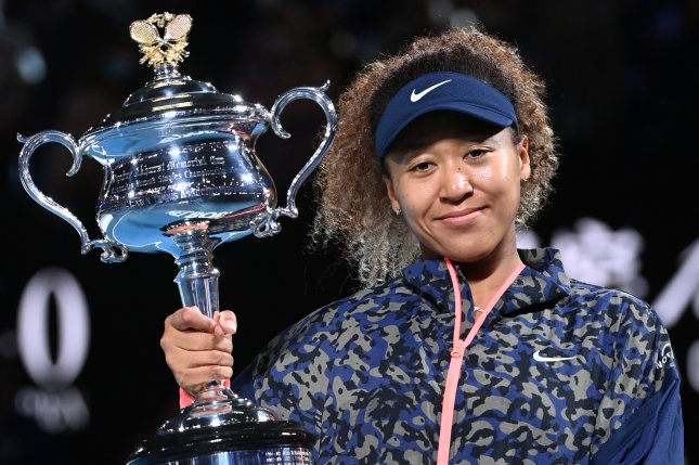 Naomi Osaka (pictured) beat American Jennifer Brady in straight sets to win the 2021 Australian Open women's singles title on Saturday in Melbourne. Photo by Dave Hunt/EPA-EFE