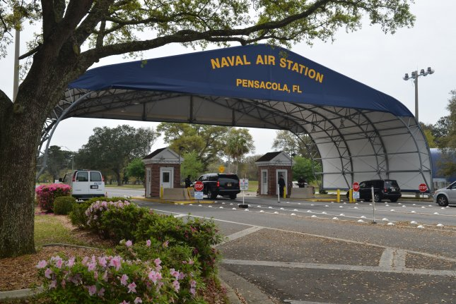 U.S. Attorney General William Barr said Monday Mohammed Saeed Alshamrani had contacted terrorist associates prior to the December 6, 2019, attack at Naval Air Station Pensacola in Florida. File Photo by Patrick Nichols/U.S. Navy/EPA-EFE