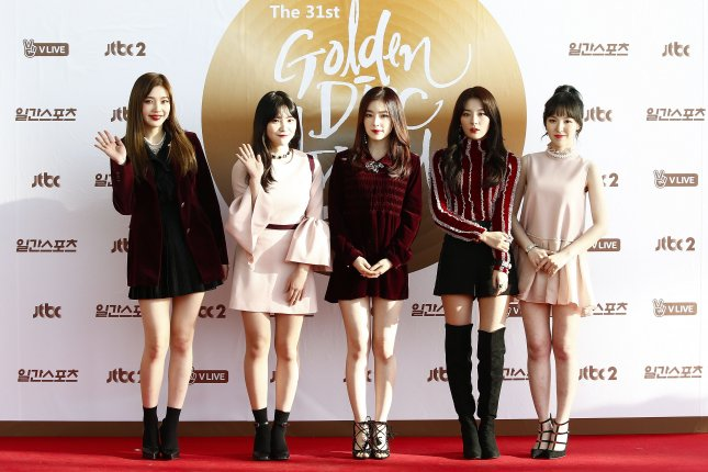 Red Velvet will include three new songs on the repackaged album The Perfect Red Velvet. File Photo by Kim Hee-chul/EPA
