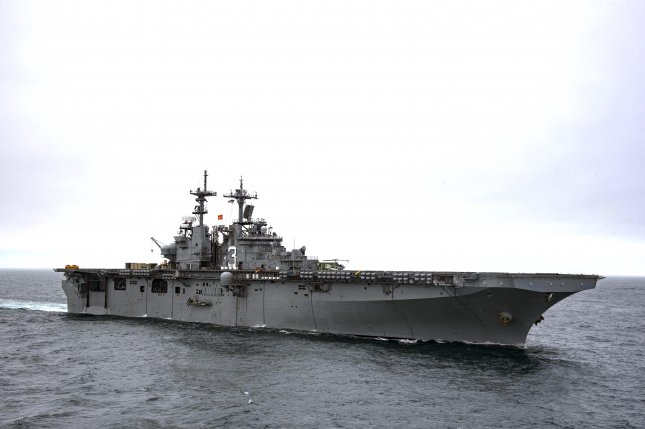 The U.S. Navy said the USS Kearsarge would be among the ships deployed to the Texas coast to assist with Harvey relief efforts. File Photo by Nathan T. Beard/U.S. Navy
