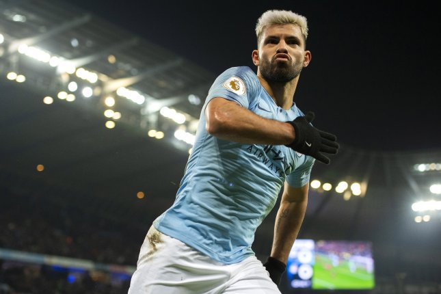 Manchester City's Sergio Aguero had two hat tricks in 2019 after posting three hat tricks in 2018. Photo by Peter Powell/EPA-EFE