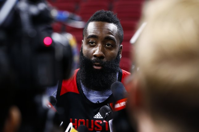 James Harden scored 29 points Wednesday for the Houston Rockets. Photo by Rolex Dela Pena/EPA