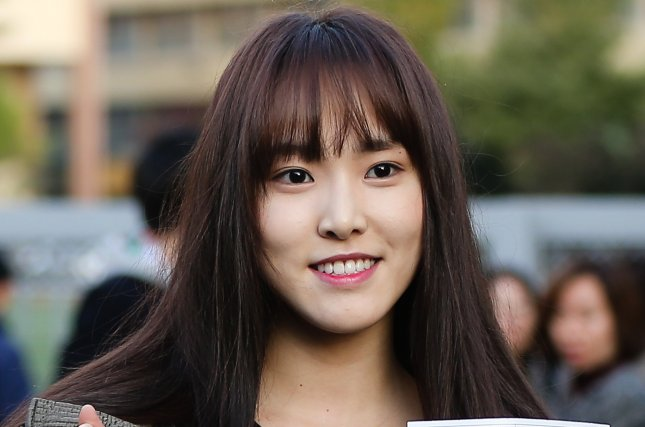 Yuju and the other members of GFriend will return April 30 with a new album. File Photo by Yonhap News Agency/EPA