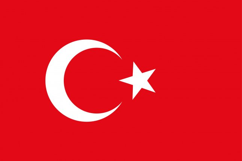 Flag of Turkey. Photo by charnsitr/Shutterstock