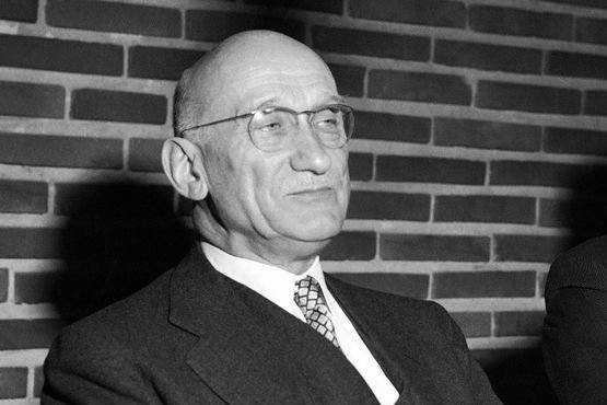 An archival photograph shows French Foreign Minister Robert Schuman visiting Espoo, Finland, on April 10, 1953. File photo byReino Loppinen/Lehtikuva