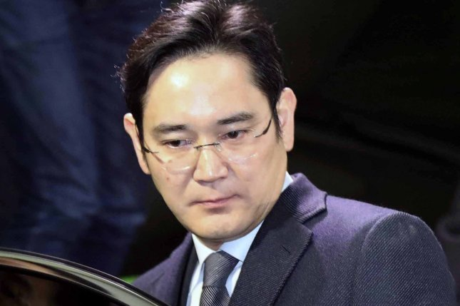 Lee Jae-yong, vice chairman of Samsung Electronics, shown here in 2017,  has been under investigation for allegations related to his potential succession for company power. File Photo by Yonhap/EPA-EFE