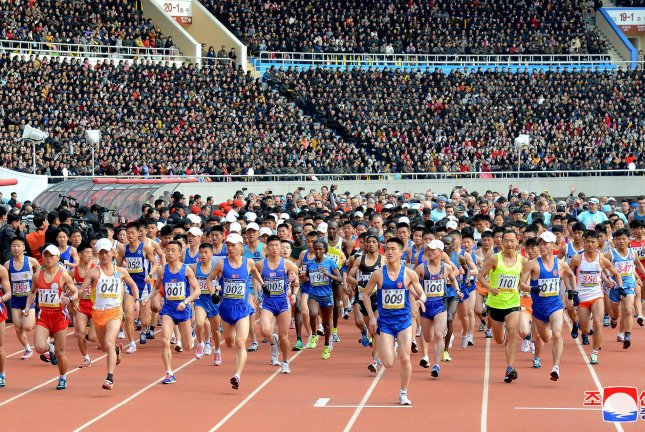 North Korea's Mangyongdae Prize International Marathon is to be held in April, according to a Beijing-based tour operator. File Photo by KCNA/EPA-EFE