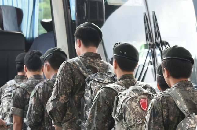 """South Korea's military service law requires men but not women to serve for about 20 months. Seoul's defense ministry said """"social consensus"""" is needed before changes are made, according to a local press report on Tuesday. File Photo by Yonhap/UPI"""