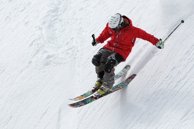 Researches say that physical activity -- such as skiing -- can help lower the risk for and help people manage anxiety. Photo by Up-Free/Pixabay