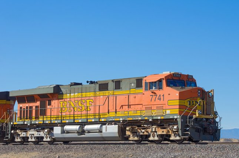 A BNSF freight train. Photo by Angel DiBilio/Shutterstock.com