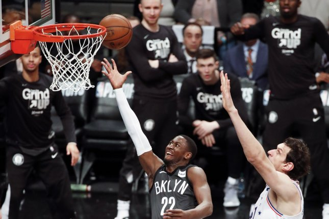 Brooklyn Nets guard Caris LeVert (22) made five 3-pointers and 12 free throws as part of his 51-point effort against the Boston Celtics on Tuesday in Boston. Photo by Jason Szenes/EPA-EFE