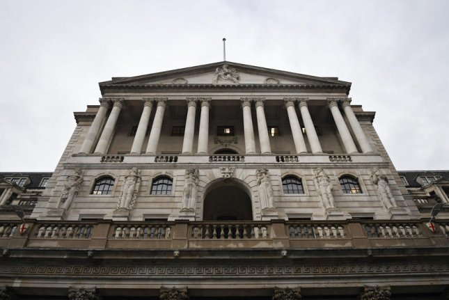 The Bank of England is seen in London, Britain. Before this year,Britain's last recession occurred in 2008 and lasted for more than a year. File Photo by Andy Rain/EPA-EFE
