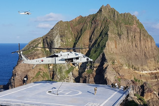 Japan has increasingly made claims over the disputed Dokdo Islets, which is under South Korean administration. North Korea has backed the South's claims. File Photo by Yonhap