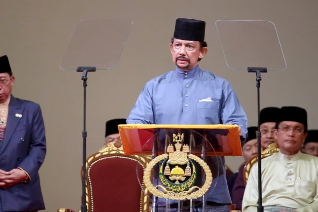 Sultan of Brunei Hassanal Bolkiah said he extended the moratorium on the death penalty for homosexuality and adultery. Photo by Stringer/EPA-EFE