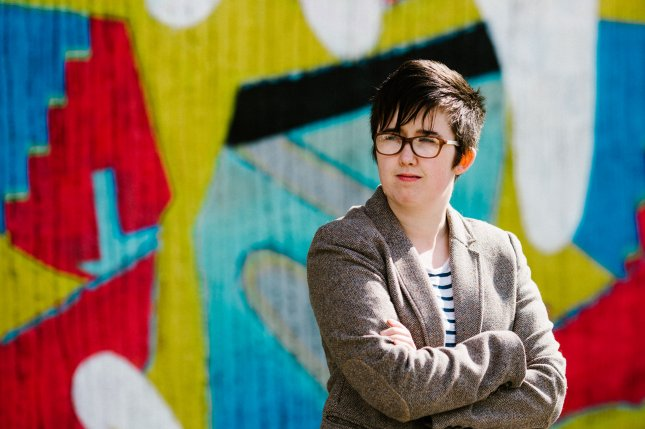 Journalist Lyra McKee poses outside the Sunflower Bar on Union Street in Belfast, Northern Ireland, on May 19, 2017. File Photo by Jess Lowe/EPA-EFE