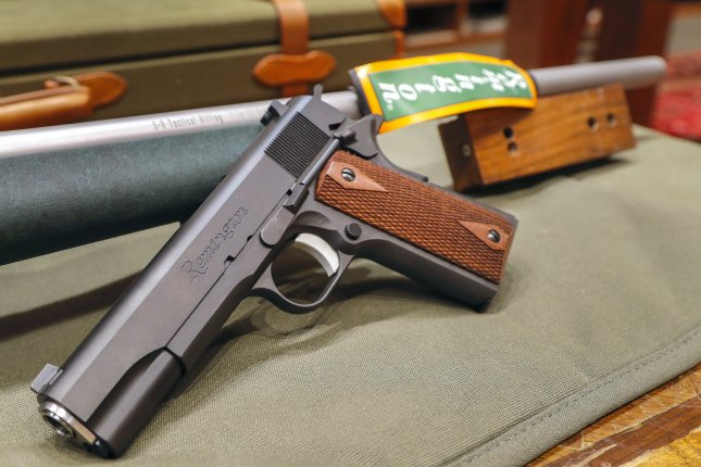 U.S. firearm manufacturer Remington on Monday filed for Chapter 11 bankruptcy protection in Delaware federal court. The filing follows an agreement last month with its major creditors, and a decline in gun sales last year. File Photo by Erik S. Lesser/EPA-EFE