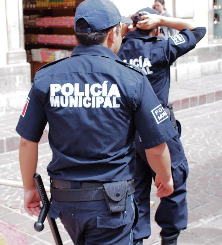 Municipal police officers patrol Guanajuato, Mexico. (UPI/Shutterstock/Takamex)