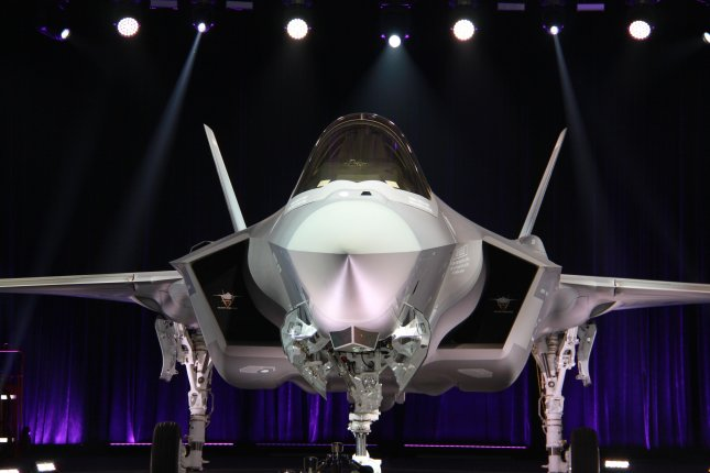 South Korea's first stealth fighter jet F-35A is unveiled during a rollout ceremony at Lockheed Martin's assembly plant in Fort Worth, Texas, USA, 28 March 2018. South Korea will deploy 40 F-35As by 2021. Photo by Yonhap.