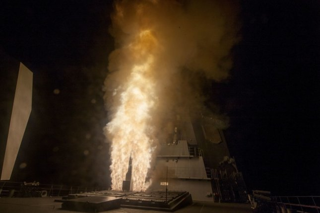 JS ATAGO (DDG-177) successfully completed an Aegis Ballistic Missile Defense (BMD) intercept flight test off the coast of Kauai, Hawaii, bringing BMD capability to the Japanese fleet. Photo courtesy of the Missile Defense Agency. (PRNewsfoto/Lockheed Martin)