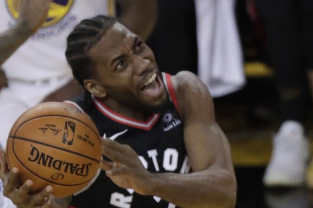 Toronto Raptors forward Kawhi Leonard averaged 26.6 points this season. Photo by Monica Davey/EPA-EFE