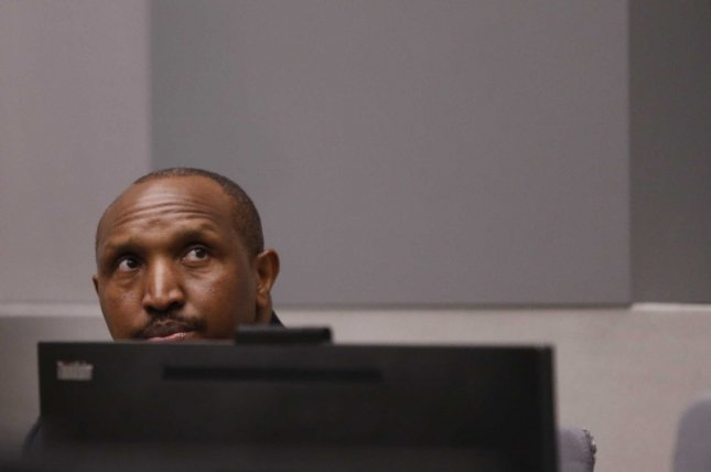 epa07702914 Congolese militia commander Bosco Ntaganda sits in the courtroom of the ICC (International Criminal Court) during his trial at the Hague in the Netherlands, 08 July 2019. Reports state that the ICC is expected to pass judgement on Ntaganda, accused of overseeing the slaughter of civilians by his soldiers in the Democratic Republic of Congo in 2002 and 2003. EPA-EFE/EVA PLEVIER / POOL