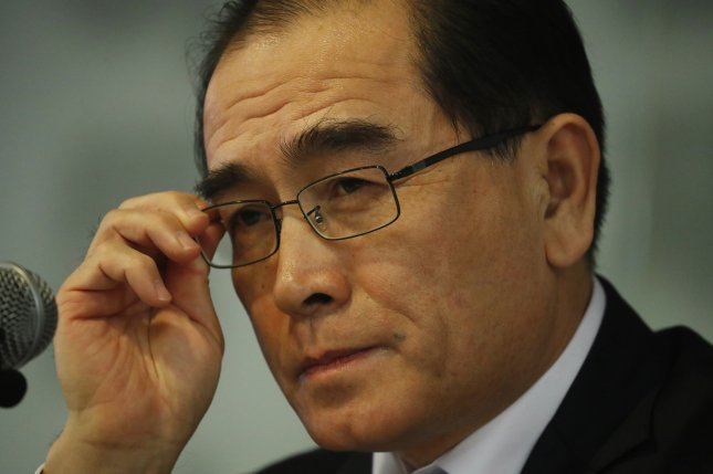 Thae Yong-ho, a former North Korean diplomat running for office in the South, has responded to comments from a politician regarding his candidacy. File Photo by Jeon Heon-kyun/EPA-EFE
