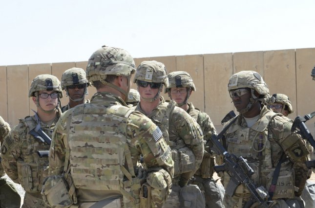 Lt. Gen. Stephen J. Townsend, commander Combined Joint Task Force Operation Inherent Resolve, visits the Qayyarah West Airfield, Iraq. There are more than 5,000 U.S. troops in Iraq and 2,000 in Syria. File Photo by Capt. Ryan E. Alvis/USMC/UPI
