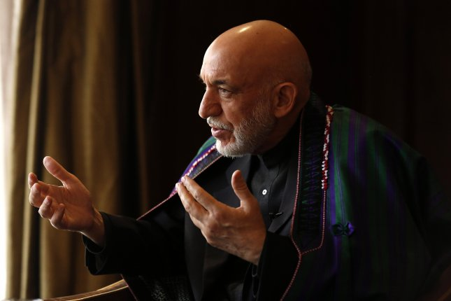 Former Afghan President Hamid Karzai met with Taliban representatives in Moscow for two-day peace talks. Photo by Rajat Gupta/EPA-EFE