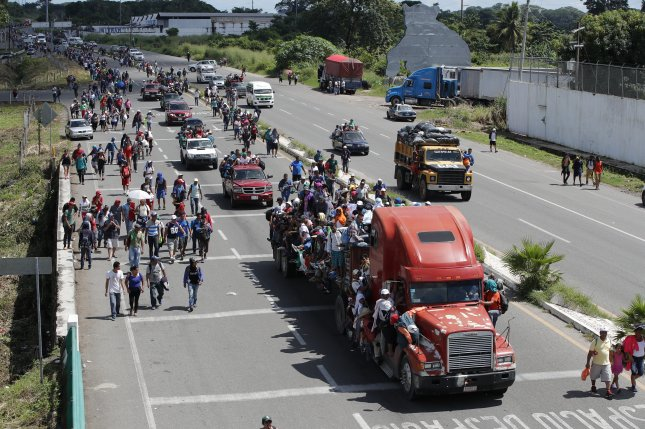 migrant caravan getting smaller as it approaches u s upi com