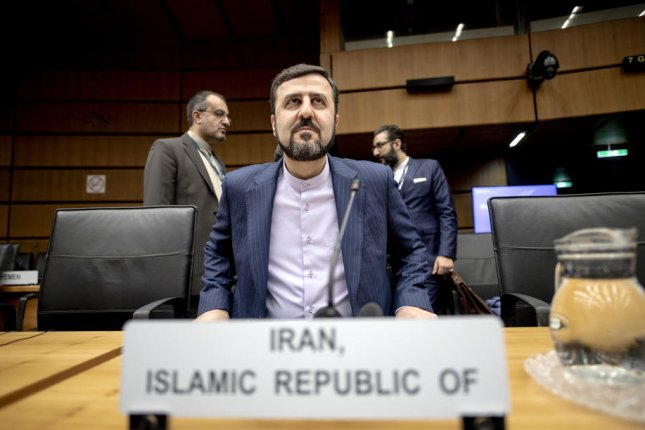 Iranian representative Kazem Gharibabadi, pictured at a November 21, 2019, meeting of the IAEA Board of Governors in Vienna, says Tehran will take appropriate action after the board criticized Iran for non-compliance Friday. File photo by Christian Bruna/EPA-EFE