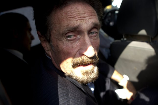 Software entrepreneur John McAfee was arrested and charge with multiple offenses, the Justice Department andCommodity Futures Trading Commission said Friday. File Photo by Saul Martinez/EPA