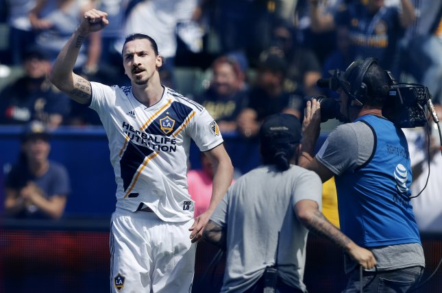 Zlatan Ibrahimovic announced he was leaving the Los Angeles Galaxy on Nov. 14, ending his Major League Soccer tenure. Photo by Paul Buck/EPA-EFE