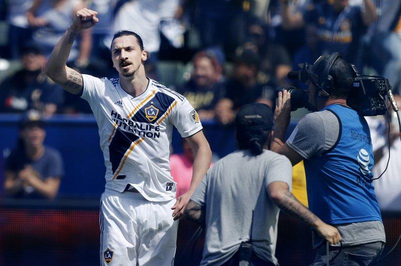 Zlatan Ibrahimovic announced he was leaving the Los Angeles Galaxy on Nov. 14, ending his Major League Soccer tenure. Photo by Paul Buck/EPA-EFE