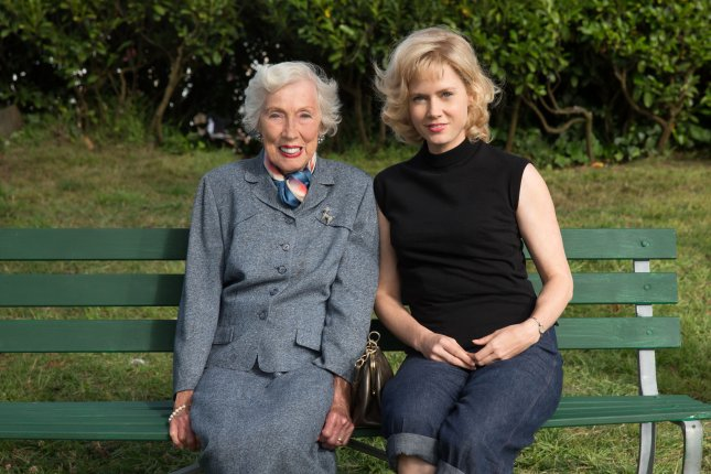 Amy Adams, right, plays artist Margaret Keane in the movie about her life, Big Eyes. Keane says that though she promised to no longer tell the lie that her former husband painted her big-eyed portraits, she had no intention of making the big reveal on air during a radio interview in 1970. Photo courtesy of the Weinstein Company