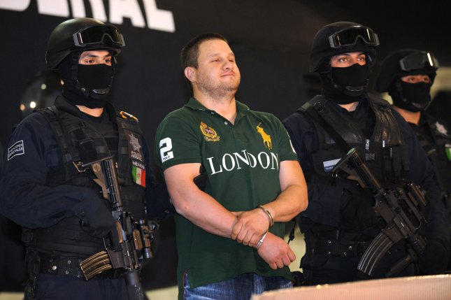 Edgar La Barbie Valdez-Villarea was sentenced to 49 years and one month in federal prison for trafficking cocaine into the United States as part of the Mexican Beltran-Leyva Cartel, the Department of Justice said Monday. Photo by Mario Guzman/EPA