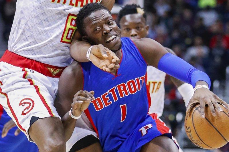 Reggie Jackson and the Detroit Pistons face the Chicago Bulls on Friday. Photo by Erik S. Lesser/EPA