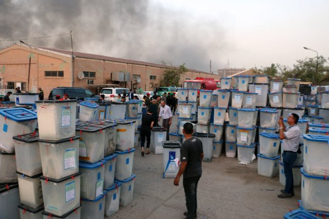 Iraqi PM Abadi condemns arson at election warehouse