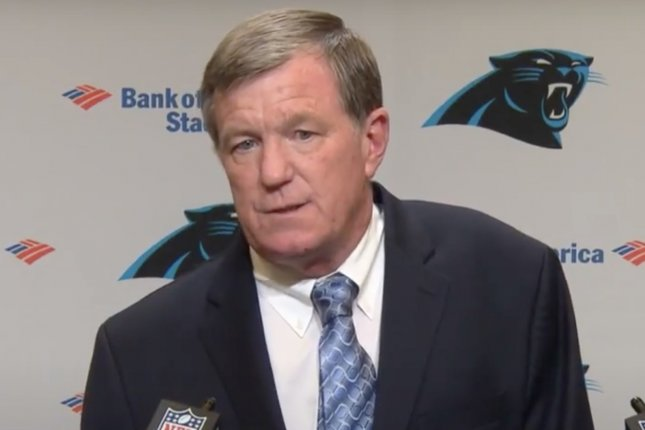 The Carolina Panthers on Monday fired general manager Marty Hurney, who joined the franchise's front office in 1998. Screenshot from Carolina Panthers/YouTube