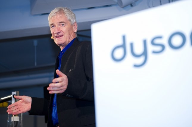 James Dyson, shown unveiling a new hand dryer in Hamburg, Germany, on February 28, 2013, said Tuesday his company is developing an electric car. Photo by Axel Heimken/EPA