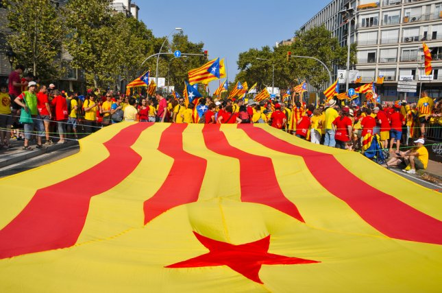 1.8 million people demand to vote in a referendum for the independence of Catalonia on September 11, 2014 in Barcelona, Spain, during the National Day of Catalonia. nito/Shutterstock.com