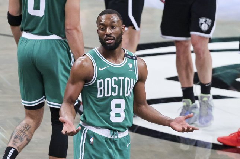 Boston Celtics guard Kemba Walker is headed to the Oklahoma City Thunder as part of a trade that involves three players and three draft picks. Photo by Justin Lane/EPA-EFE