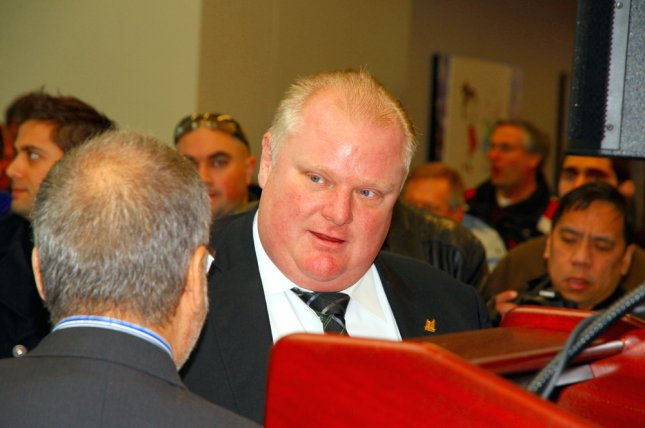 Former Toronto Mayor Rob Ford, shown here in 2013, tweeted an invitation encouraging supporters to attend his future nephew-in-law's bachelor party. Photo by ValeStock/Shutterstock.com