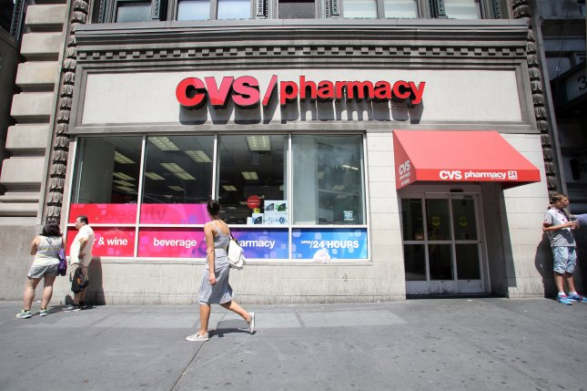 CVS Pharmacy locations nationwide have begun selling the Adrenaclick epinephrine autoinjector, an alternative to the more expensive EpiPen, at a cash price of $110 for a two-pack, the company said Thursday. File photo by Northfoto/Shutterstock