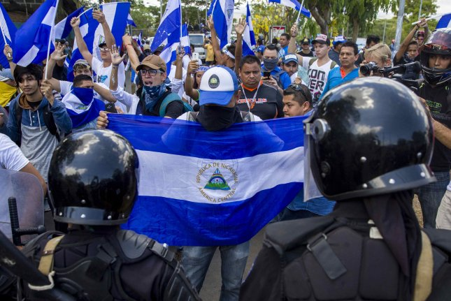 The Trump administration imposed sanctions Monday targeting officials close to Nicaraguan President Daniel Ortega who was behind a bloody crack down on protesters in 2018. Photo by Jorge Torres/EPA-EFE
