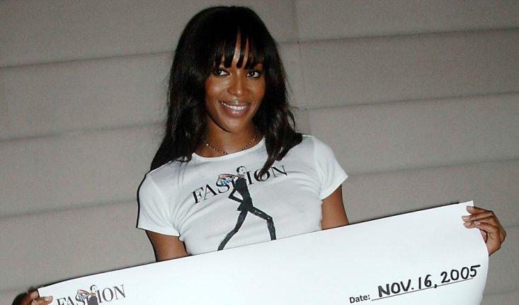 Supermodel Naomi Campbell