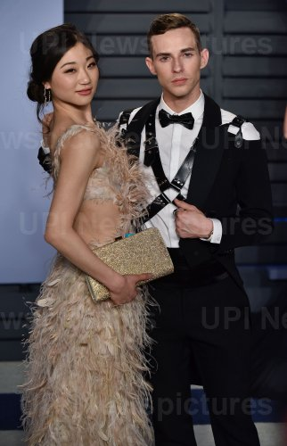 Adam Rippon attends the Vanity Fair Oscar Party in Beverly Hills