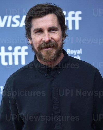 Christian Bale attends 'Ford v Ferrari' photocall at Toronto Film Festival